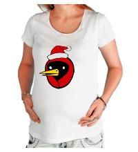 Футболка для беременной Омская птица c колпаком