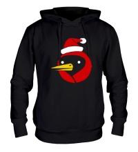 Толстовка с капюшоном Омская птица c колпаком