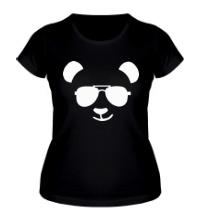 Женская футболка Крутая панда