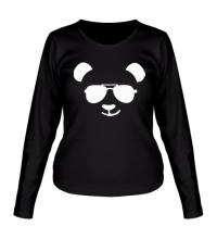 Женский лонгслив Крутая панда