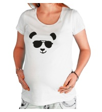 Футболка для беременной Крутая панда