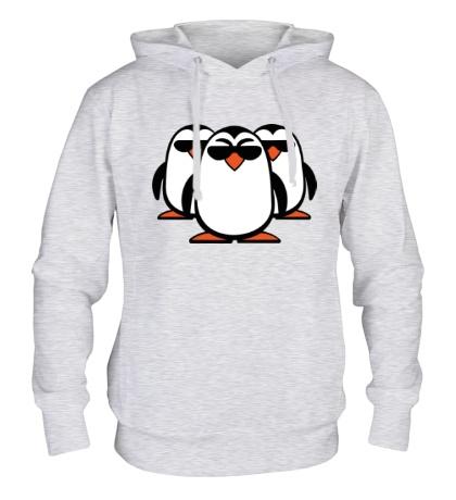 Толстовка с капюшоном Банда пингвинов