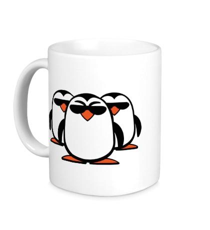 Керамическая кружка Банда пингвинов