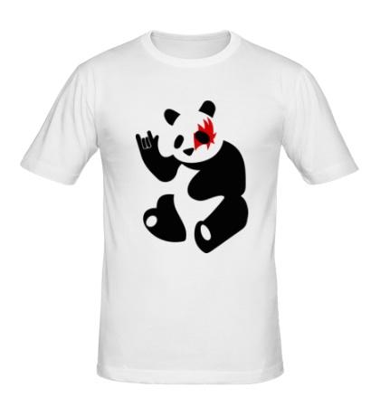Мужская футболка Панда рокер