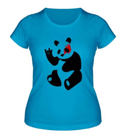 Женская футболка Панда рокер