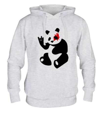 Толстовка с капюшоном Панда рокер