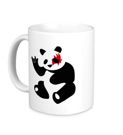 Керамическая кружка Панда рокер