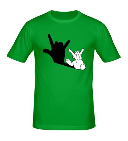 Мужская футболка Тень зайца