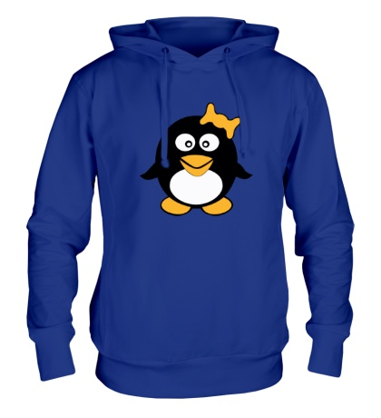 Толстовка с капюшоном Пингвин девочка