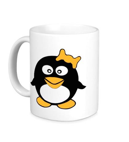 Керамическая кружка Пингвин девочка