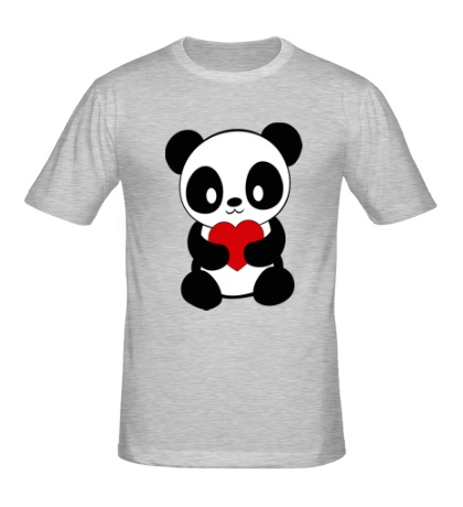 Мужская футболка Пандочка с сердем