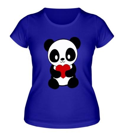 Женская футболка Пандочка с сердем