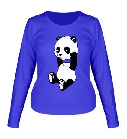 Женский лонгслив Панда без головы