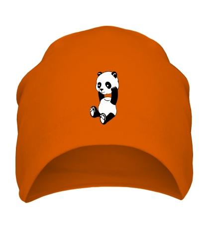 Шапка Панда без головы
