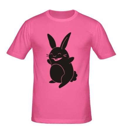 Мужская футболка Веселый заяц