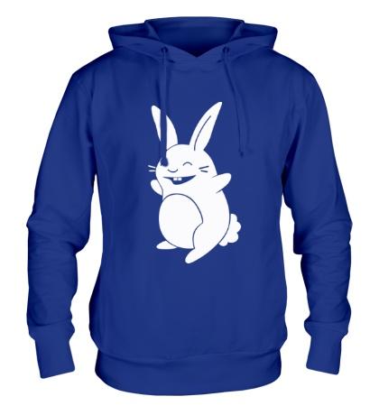Толстовка с капюшоном Веселый заяц