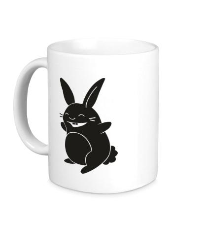 Керамическая кружка Веселый заяц