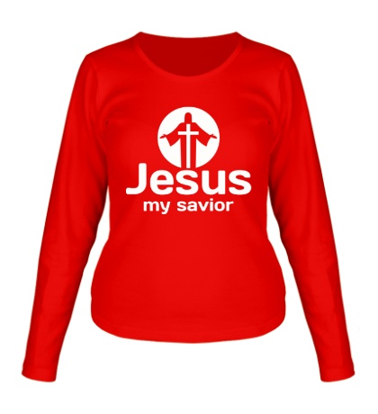 Женский лонгслив «Jesus my savior»