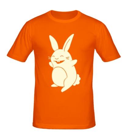 Мужская футболка Веселый заяц, свет