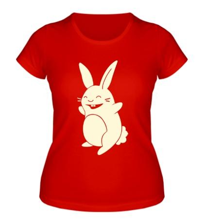 Женская футболка Веселый заяц, свет
