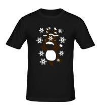 Мужская футболка Новогодний олень