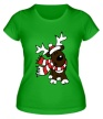 Женская футболка «Олень в шарфе» - Фото 1