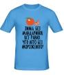 Мужская футболка «Зима без мандаринов» - Фото 1