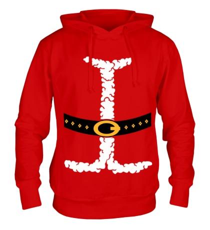 Толстовка с капюшоном Костюм Деда Мороза