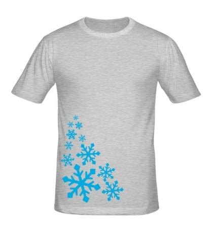 Мужская футболка В снежинках