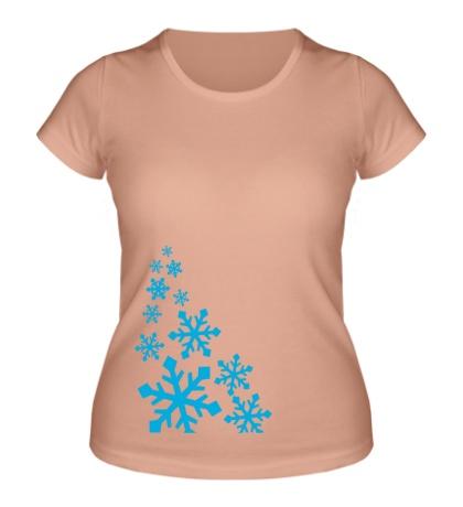 Женская футболка В снежинках