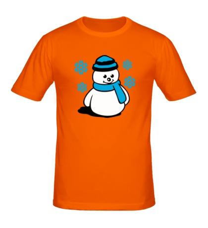 Мужская футболка Довольный снеговичок