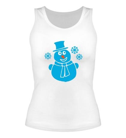 Женская майка Веселый снеговик