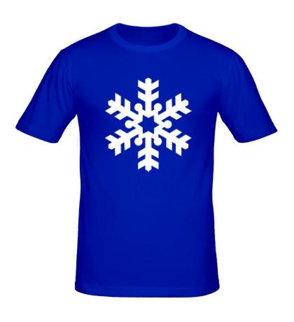 Мужская футболка Красивая снежинка