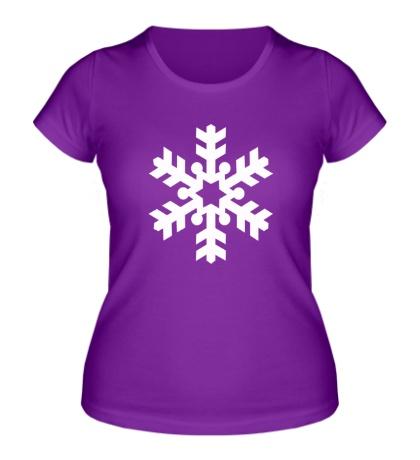 Женская футболка Красивая снежинка
