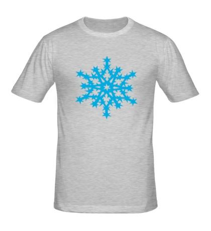Мужская футболка Остроугольная снежинка