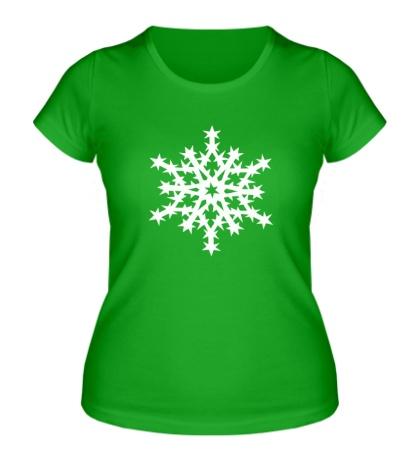Женская футболка Остроугольная снежинка