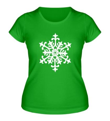 Женская футболка Узорная снежинка