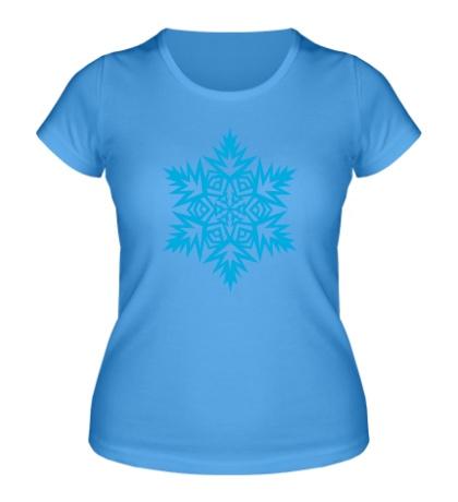 Женская футболка Острая снежинка