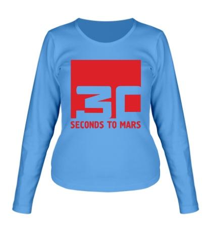 Женский лонгслив «30 Seconds To Mars Logo»