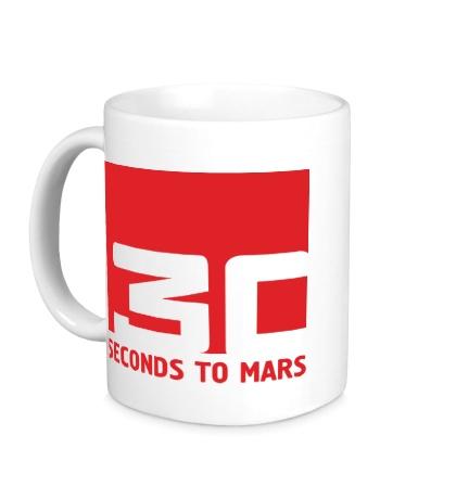Керамическая кружка 30 Seconds To Mars Logo