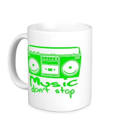 Керамическая кружка Music dont Stop
