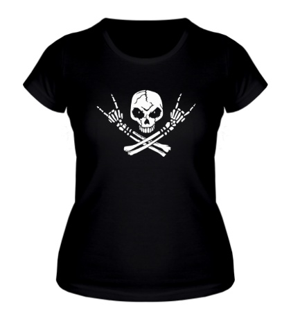 Женская футболка Hardcore Skull