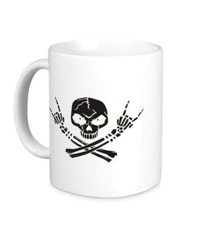 Керамическая кружка Hardcore Skull