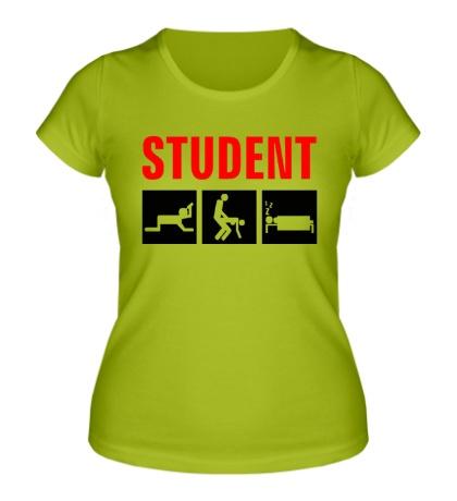 Женская футболка Student