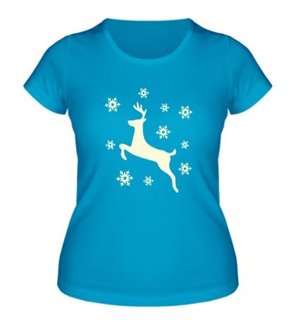 Женская футболка Олень: символ НГ, свет