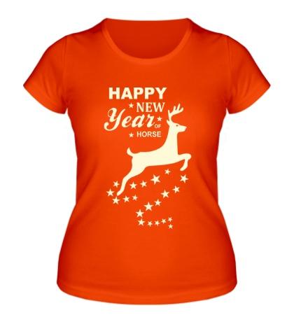 Женская футболка Magic Happy New Year Glow