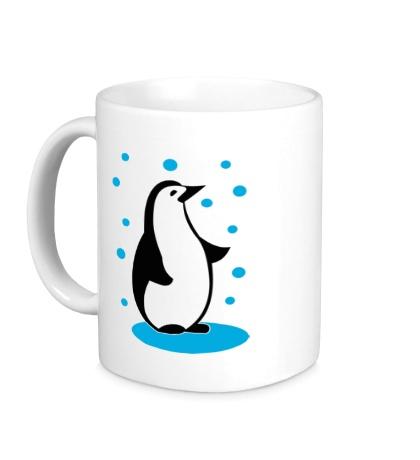 Керамическая кружка Пингвин и снег