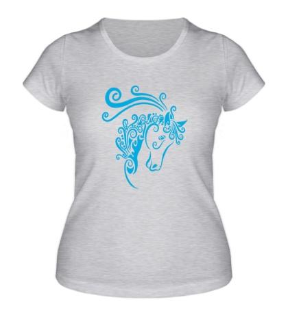 Женская футболка Скоростная лошадь