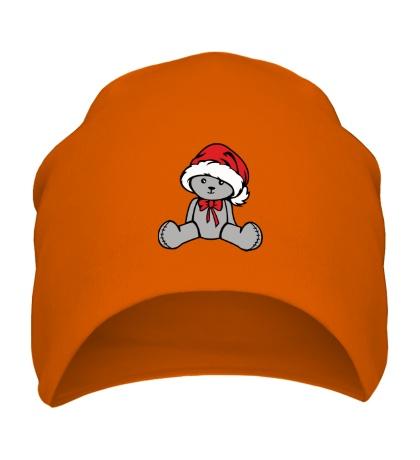 Шапка Мишка в новогодней шапочке