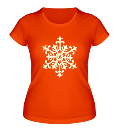 Женская футболка Узорная снежинка свет